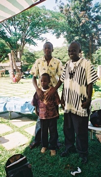 Leo and family in Kisumu 2005